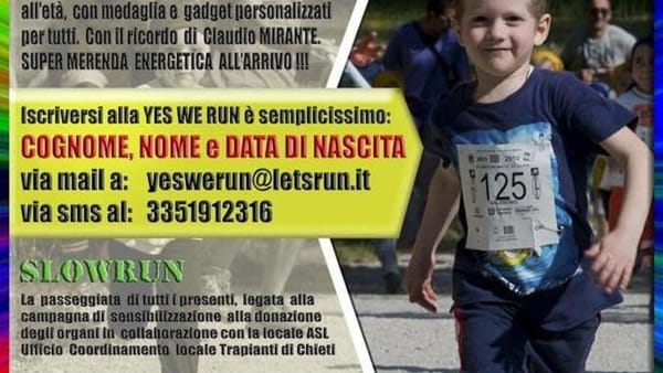 Yes We Run 2016 al campus universitario il 14 maggio