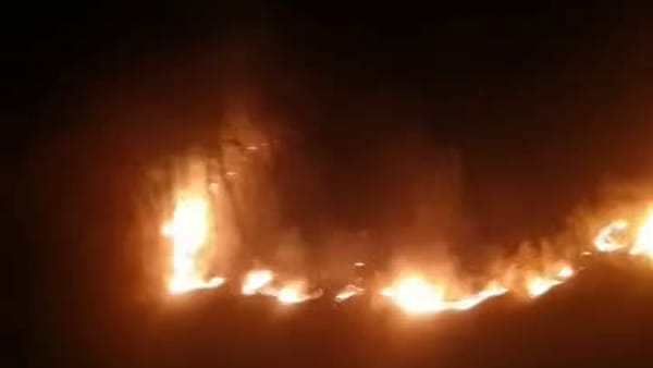 Vasto incendio tra Quadri e Pizzoferrato: bruciano boschi e campi [VIDEO]