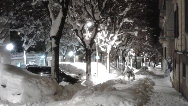 Chieti bella sotto la neve: una lunga passeggiata in città