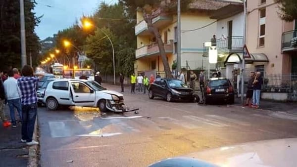 L'incidente di sabato su via Colonnetta