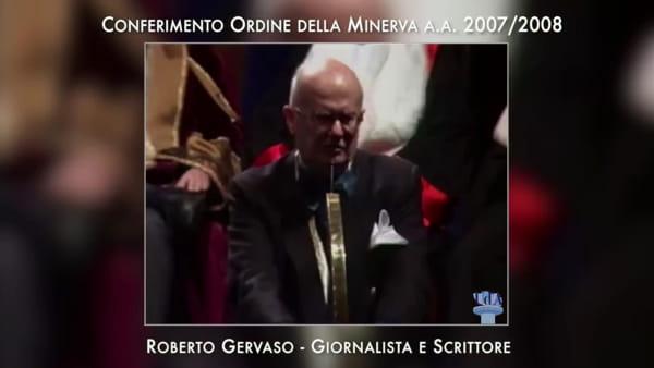 """""""Tutti dovete avere dei maestri"""": la lezione di Roberto Gervaso agli studenti della d'Annunzio [VIDEO]"""