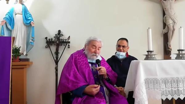 La messa di Padre Lorenzo sulla pagina Facebook di ChietiToday