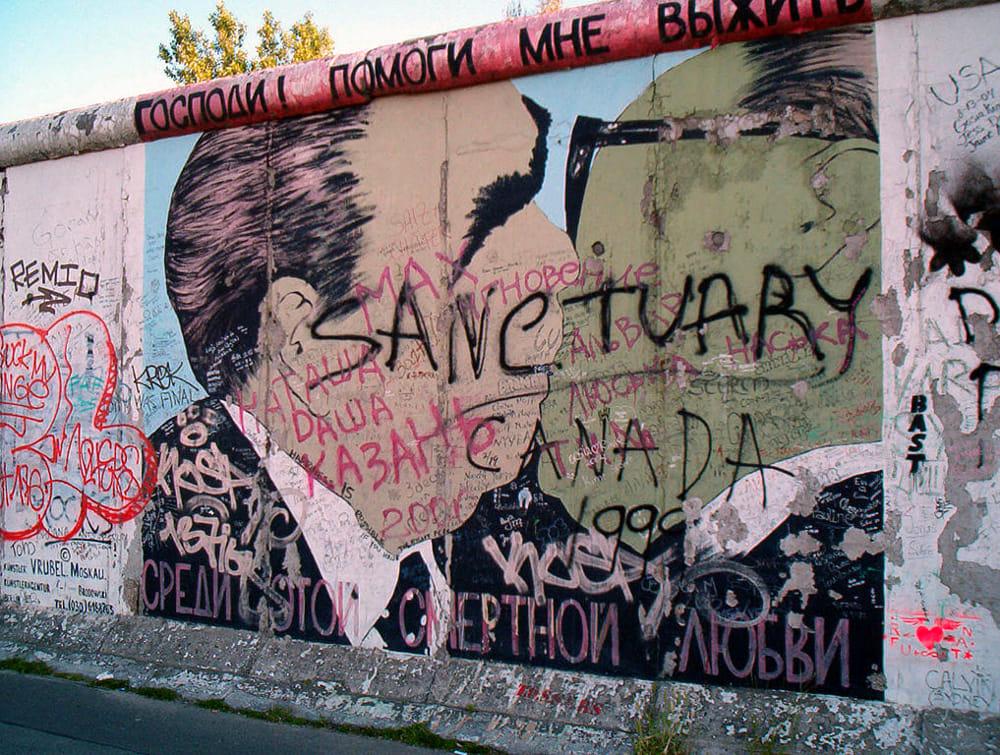 Un'immagine di quel che rimane del Muro di Berlino