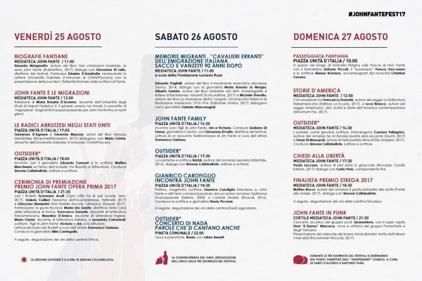 Programma festival John Fante-2