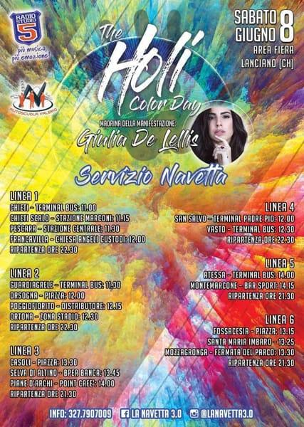 Navette Holi color festival-2